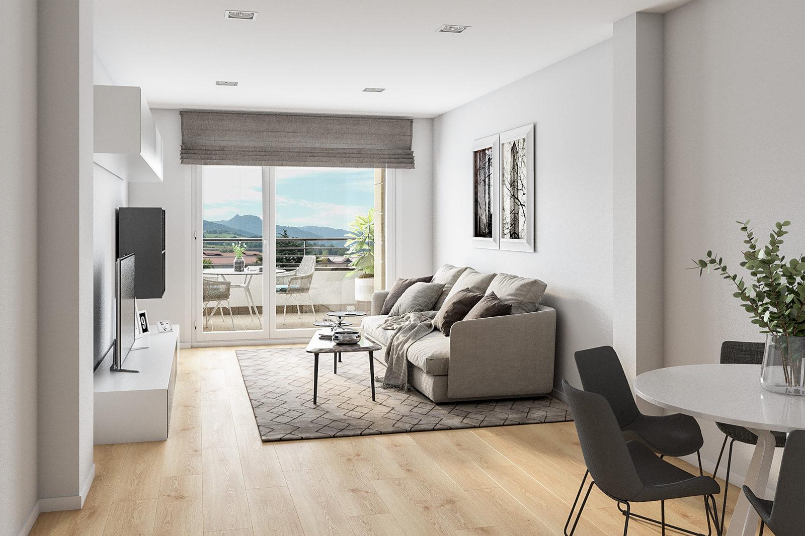 Salón nueva vivienda Oribai - Beasain