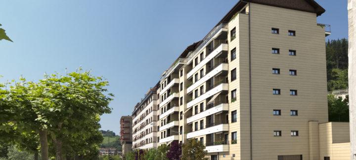 Fachada de la nueva vivienda en Beasain